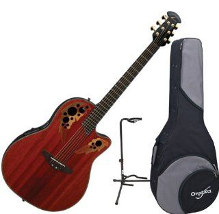 Ovation CC48 PD Celebrity DLX SS Padauk Acoustic Electric Guitar w/Ovation Zero Gravity Case and Guitar Stand Musical Instruments