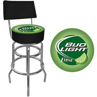 Trademark Global Bud Light Lime Padded Bar Stool with Back (AB1100 BLLIME)