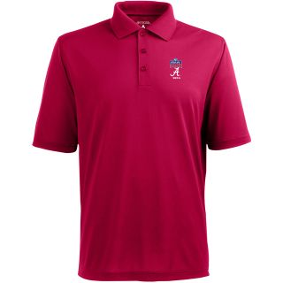 Antigua Mens Pique Xtra Lite Mens Polo w/ Sugar Bowl Alabama Crimson Tide Logo