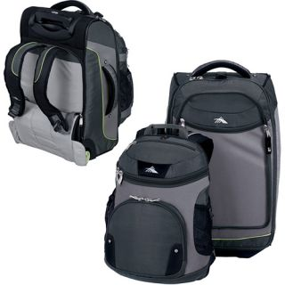 High Sierra Lite 22 Carry On Wheeled Backpack w/ Removeable Daypack,