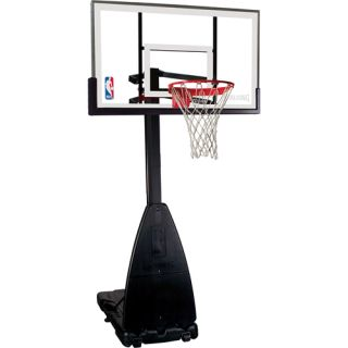 Spalding 68454 NBA Tempered Glass 54 Inch Screw Jack Portable Basketball System