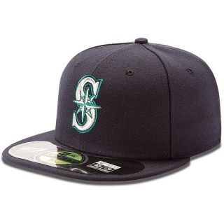 NEW ERA Mens Seattle Mariners Authentic Collection Game 59FIFTY Fitted Cap
