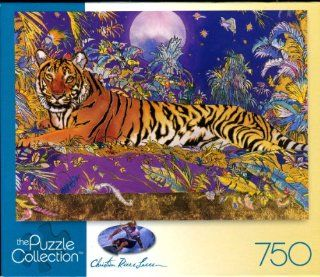 Christian Riese Lassen Puzzle Collection   Golden Jungle Tiger: Toys & Games