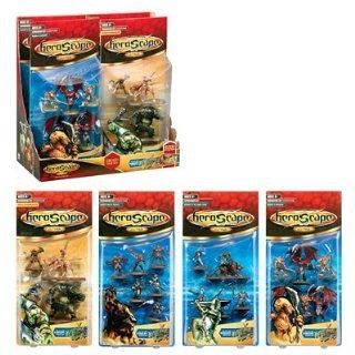Heroscape Wave 2 Complete Set of 4 Boosters   Minutemen/wolves, Heroes Barrenspur, Drones/minions, Knights Swog Toys & Games