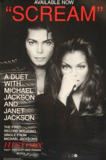 Michael Jackson and Janet Jackson   Scream   Poster 11 X 17 (537) : Prints : Everything Else