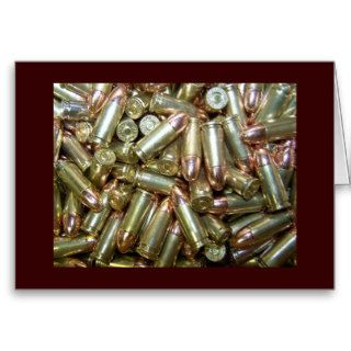 9mm ammo Ammunition Greeting Cards