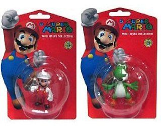 Nintendo Super Mario Vinyl Figures Wave 3, Set of 2: Toys & Games