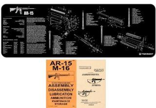 Ultimate Arms Gear Black Gunsmith & Armorer's Cleaning Work Tool Bench Gun Mat Assembly Disassembly For AR15 AR 15 AR 15 M4 M16 Rifle + .223 556 5.56 MM Machine Gun Technical Manual Book Official US Army Military Reproduction : Gunsmithing Tools An