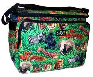 Endangered Species African Safari Animal Insulated Soft Side Large Lunch Picnic Beach Cookout Tailgating Cooler Ice Chest Bag Featuring Lion, Tiger, Elephant, Gorilla, Zebra, Antilope, Giraffe and more jungle wildlife  Softshell Coolers  Sports & Out