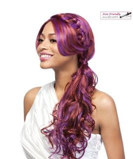 It's a Wig Braid Lace Front Wig   VERMONT (PURPLE RED)  Hair Replacement Wigs  Beauty
