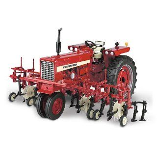 Farmall Diecast Tractor Farmall 544 Gas Narrow Front With Four Row Cultivator by The Hamilton Collection   Hobby Pre Built Model Ground Vehicles