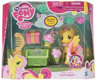 My Little Pony Friendship Is Magic Bridesmaid Pony Figure Playset   Fluttershy Toys & Games