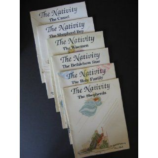 The Nativity cross stitch pattern set of 6: Rebecca Waldrop: Books