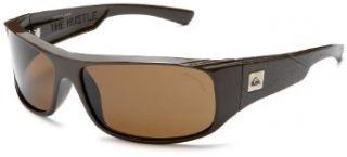 Quiksilver Men's The Hustle Polarized Sunglasses,Dark Brown Frame/Amber Lens,one size Clothing