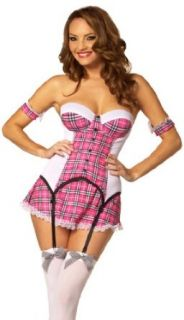 Sexy School Girl Outfit Plaid Mini Schoolgirl Cosplay Halloween Costume Party: Clothing