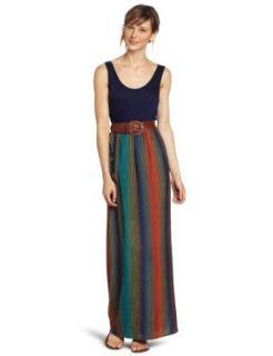 As U Wish Juniors Knit To Woven Long Maxi Dress, Blue, Small at  Women�s Clothing store: