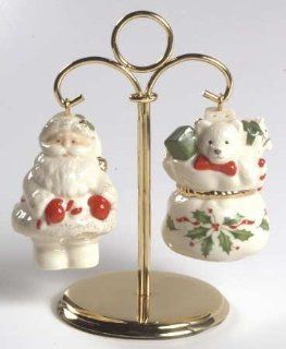 Lenox China Holiday (Dimension) Hanging Salt & Pepper Set, Fine China Dinnerware: Kitchen Tools: Kitchen & Dining