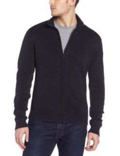 Calvin Klein Jeans Men's 7GG Full Zip Sweater, Faded Navy, Large at  Men�s Clothing store