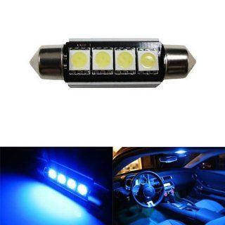 iJDMTOY 4 SMD Error Free 6411 578 LED Bulb For Car Interior Dome Light or Trunk Area Light, Ultra Blue Automotive