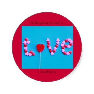 Candy Love Hearts Round Sticker