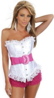 580 Strawberry Sundae Burlesque Corset, 2X Large: Clothing