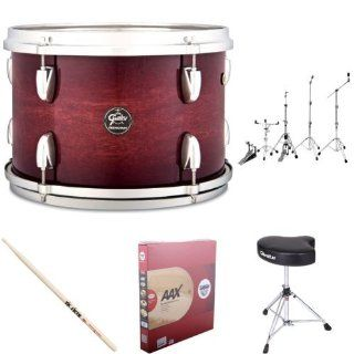 Gretsch Drums RN1 E604 CB New Renown Maple 4 Piece Groove Drum Set Shell Pack with Gibraltar Hardware Package Bundle Musical Instruments