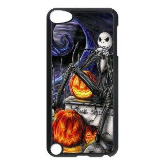 Custom Personalized Disney The Nightmare Before Christmas Series Jack Skellington 3D Skull Smooth Durable Plastic Ipod Touch 5 Case : MP3 Players & Accessories