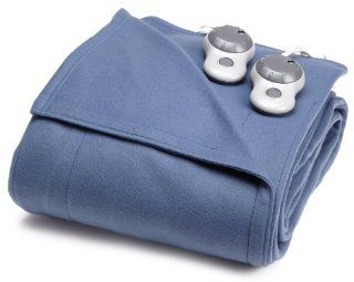 Sunbeam BW1205 030 596 Heated Electric Fleece Blanket, Twin, Lagoon
