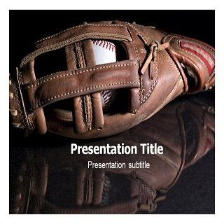 Baseball Glove Powerpoint Template  Baseball PPT Template  Templates on Baseball  Theme on Baseball Glove  Software