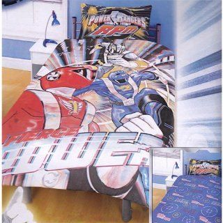 Childrens/Kids Power Rangers RPM Print Reversible Bedding Sheets Set (Twin Bed) (Blue)   Childrens Bedding Collections