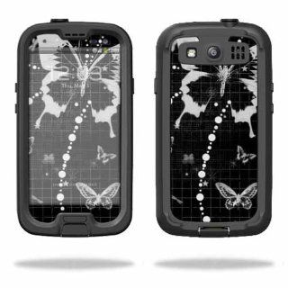 MightySkins Protective Vinyl Skin Decal Cover for LifeProof Samsung Galaxy S III S3 Case fre Sticker Skins Black Butterfly: Cell Phones & Accessories