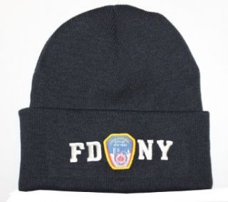 FDNY Winter Hat Police Badge Fire Department Of New York City Navy & White One Size at  Men�s Clothing store