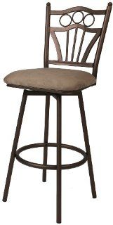 Pastel Furniture FO 222 26 CB 628 Florence Swivel Barstool, 26 Inch, Classic Bronze and Topanga Brown