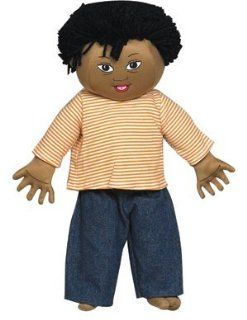 Children s Factory CF100 635 Down Syndrome Light Brown Boy Doll with Black Hair Toys & Games