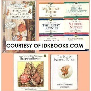 RARE COLLECTIBLE BEATRIX POTTER VHS The Tale of Peter Rabbit and Benjamin Bunny *PLUS 8 FREE GIFTS 6 Cassettes Mr. Jeremy Fisher/Flopsy Bunnies/Benjamin Bunny/Jemima Puddle Duck/Squirrel Nutkin/Sing a long *PLUS* 2 Books Benjamin Bunny and Tale of Squi