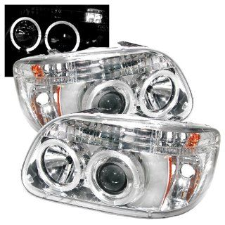 Ford Explorer 1995 1996 1997 1998 1999 2000 2001 1PC Halo Projector Headlights   Chrome Automotive