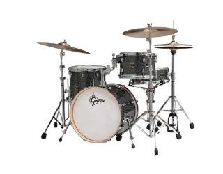 Gretsch Catalina Club Jazz 4 Piece Drum Set Galaxy Black Sparkle w/Hardware Pack Musical Instruments