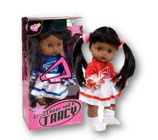Electronic Talking Cheerleader Doll   African American Tracy in Red and White Toys & Games