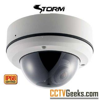 EYEMAX DT 614V   STORM� IP68 Complete Water & Vandal proof Camera + 650 Color TVL + Sony Super HAD II CCD + 0.002 Lux + 2.8~12mm AVF + OSD + HLM 3DDNR + SENS  UP + SS  WDR + DIS + LSC + 12VDC/24VAC : Dome Cameras : Camera & Photo