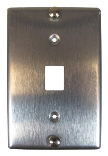 Allen Tel Products AT630BNL 6 Single Gang, 1 Port, 6 Position, 6 Conductor, Modular Jack Assembly Wall Telephone Outlet Jack, Stainless Steel