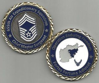 US Air Force 655 Air Expeditionary Squadron Chief Master Sergeant Challenge Coin