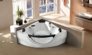 Jacuzzi Type Whirlpool Bathtub Computerized Massage Jets Built in Heater SPA Hot Tub FM  CD Model 657WH White