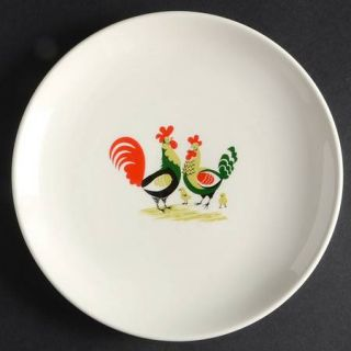Steubenville Family Affair Salad Plate, Fine China Dinnerware   Rooster, Hen & C