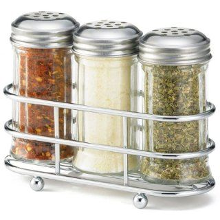 Tablecraft 659N Glass Condiment Dispenser Set with Perforated Tops, 2 Ounce Kitchen & Dining