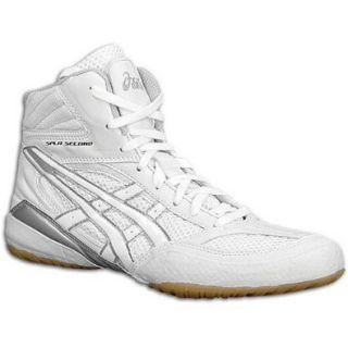 Mens ASICS Split Second VI Wrestling Shoe, ColorWhite/Silver, 8.5 D Shoes