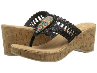 Grazie Dios Womens Sandals (Black)