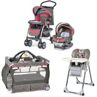 Chicco Foxy Kit Matching Stroller System High Chair and Play Yard Combo   Foxy : Baby Doll Strollers : Baby