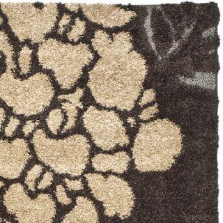 Safavieh Florida Shag Dark Brown/Gray Rug