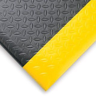 Notrax Diamond Sof Tred Anti Fatigue And Safety Mat   Pre Cut Size   2X6'   Black/Yellow Border   Black/Yellow Border   2x6' Kitchen Mats Industrial & Scientific