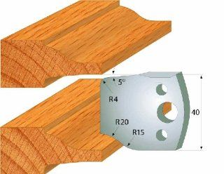 CMT 690.100 Pair of Profiled Knives for Shaper Cutters, 1 37/64 Inch Cutting Length and 5/32 Inch Thickness   Power Shaper Cutters